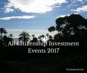 All Citizenship investment events 2017